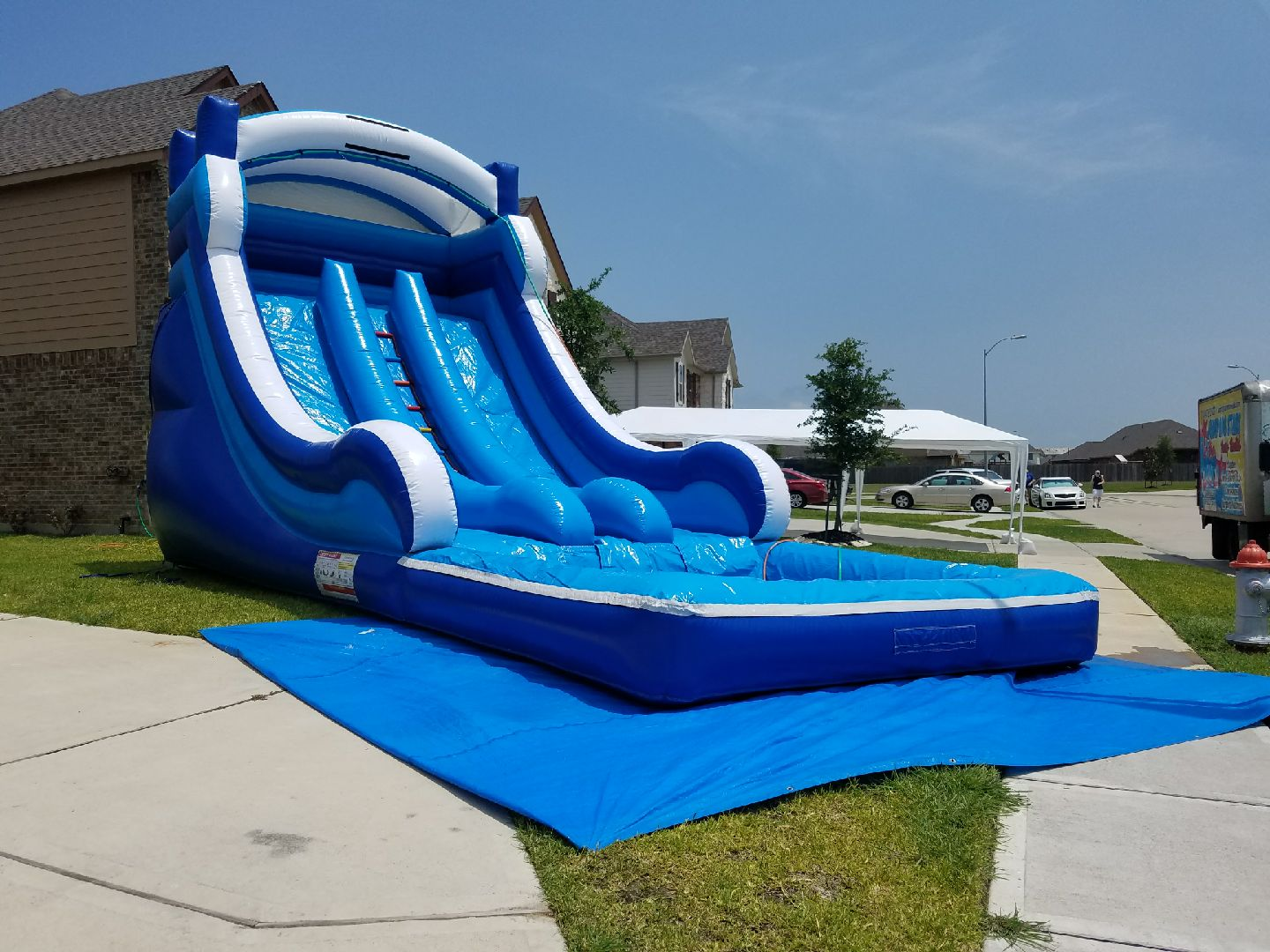 18' Double Lane Water Slide $250.00+ tax