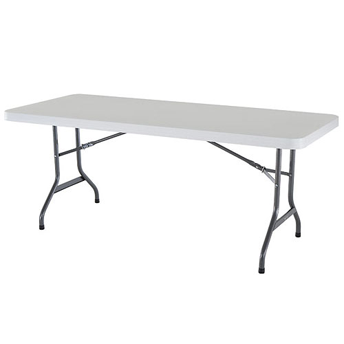 6ft White Rectangle Table $7.00