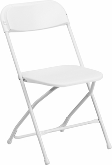 White Plastic Folding Chair $2.00